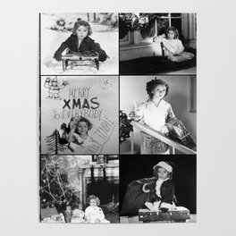 Shirley Temple Christmas Collage Poster