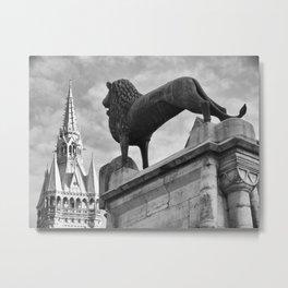 The Brunswick Lion and Town Hall Metal Print