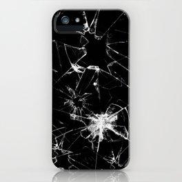 Shatterd+black iPhone Case