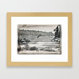 Winter Eagles Framed Art Print