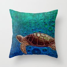 Turtle Patience Throw Pillow