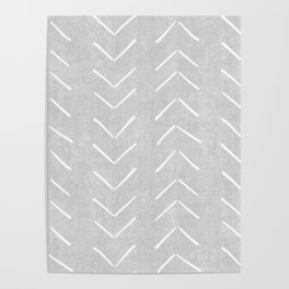 Mudcloth Big Arrows in Grey Poster