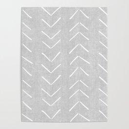 Mudcloth Big Arrows in Grey Poster