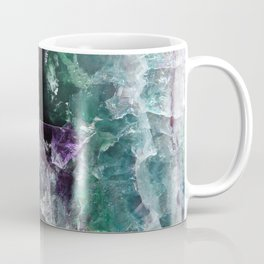 Pink & Green Watermelon Tourmaline Crystal Coffee Mug