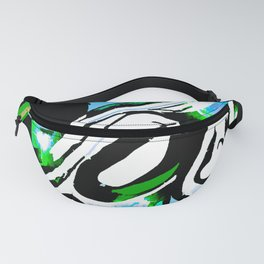 Abstract With The Blues Fanny Pack