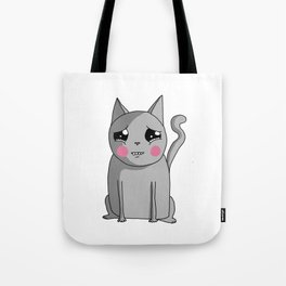 Cat with the Sad Eyes Tote Bag