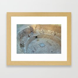 Third Village Kiva W Framed Art Print