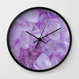 Lyrical Lilacs Wall Clock