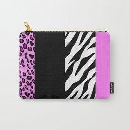 Animal Print, Zebra Stripes, Leopard Spots - Pink Carry-All Pouch