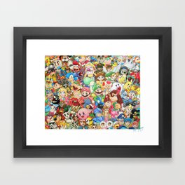 Nintendo Tribute Framed Art Print