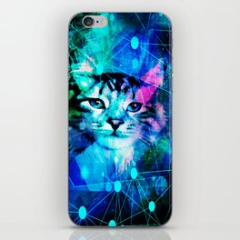 Kitty Cat Laser Lights at the Aleurorave iPhone Skin