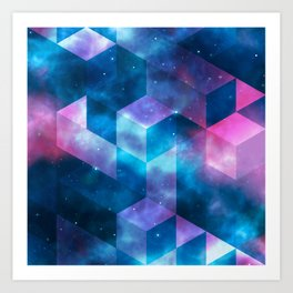 Geometrical shapes Art Print