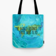 The World Belongs to Those Who Read - Watercolour Tote Bag