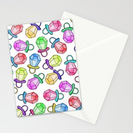 Retro 80's 90's Neon Colorful Ring Candy Pop Stationery Cards