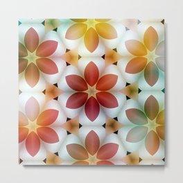 Polarized Flower Geometrics Metal Print