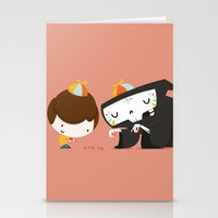 game Stationery Cards featuring Game by Alfonso Cervantes