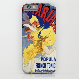 Vintage 1894 French tonic wine advert by Cheret iPhone Case
