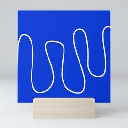Blue Abstract Wave Mini Art Print