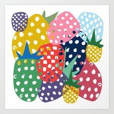 pineapple mix Art Print
