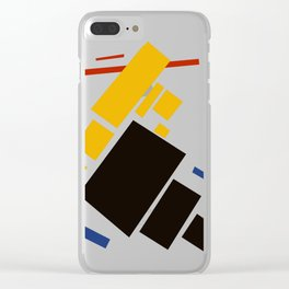 Geometric Abstract Malevic #11 Clear iPhone Case