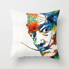 Colorful Dali Art by Sharon Cummings Throw Pillow