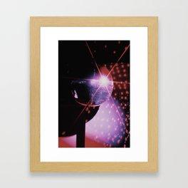 Disco Ball - Neon Framed Art Print