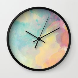Colorful Watercolor Cloud Wall Clock