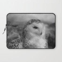 Snowy Owl - B & W Laptop Sleeve