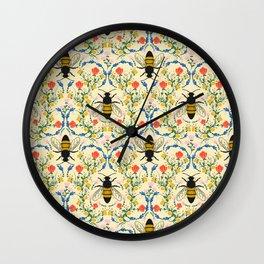 Bee Garden - Cream Wall Clock