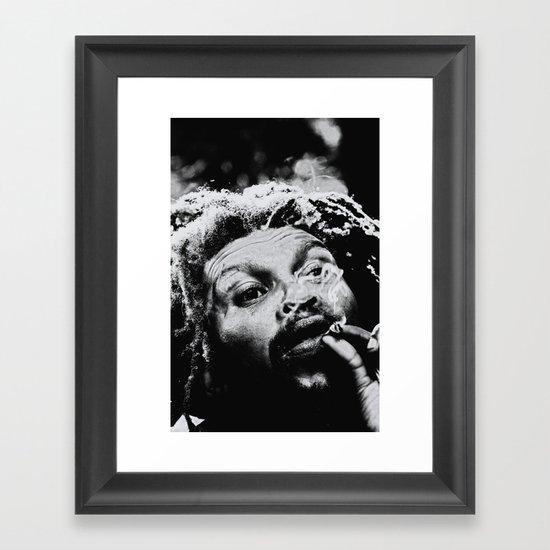 Rastafarian Framed Art Print