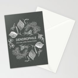 Dendrophile Olive Green Stationery Cards