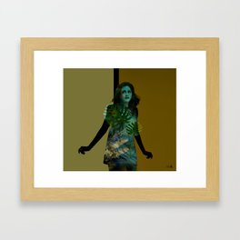 The Blue Girl Framed Art Print