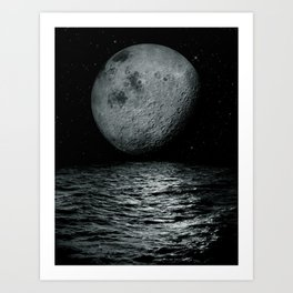 artificial satellite Art Print