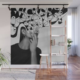 Abstraction - version 6. BW Wall Mural