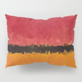 Untitled After Rothko Low Poly Geometric Triangles Pillow Sham