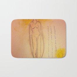 Lucille, The First Human Angel Bath Mat