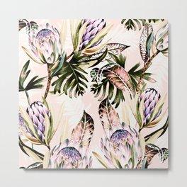 Flowering of proteas in nature Metal Print