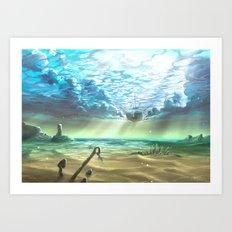 below sky level Art Print