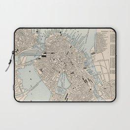 Vintage Map of Boston MA (1893) Laptop Sleeve