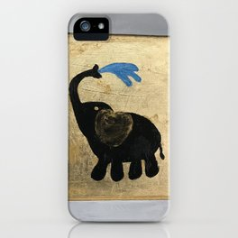 Elephant on Gold iPhone Case