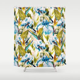 Floral Exotic Pattern II Shower Curtain