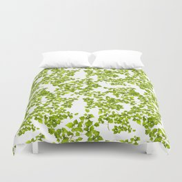 Green Leaf Art Duvet Cover