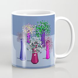 Flowers and Five Vases Coffee Mug