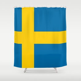 Flag of Sweden - Authentic (High Quality Image) Shower Curtain