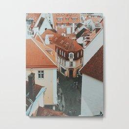 Tallinn Old Town Metal Print