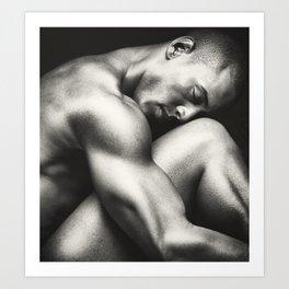"""Male Nude in Repose"" Art Print"