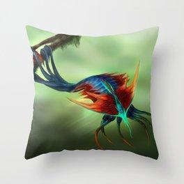 Trilobite Squid Throw Pillow
