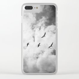 """Bird Silhouettes"" Holga double exposure Clear iPhone Case"
