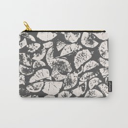 abstract pattern, Firewood texture, tree cut, gray and beige grunge wood background Carry-All Pouch