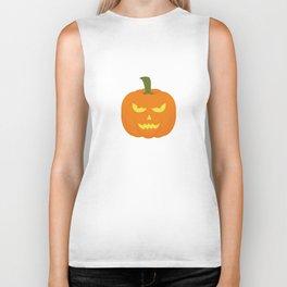 Evil light Halloween Pumpkin Biker Tank